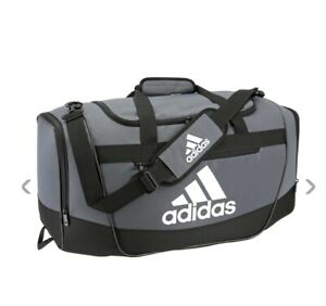 ONIX/BLACK/WHITE adidas Defender III Medium Duffle Bag (D) M11