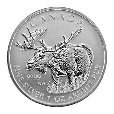 Tube of 25 - 2012 Canada $5 Fine Silver Moose - 1 oz. fine .9999