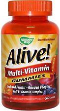 Nature's Way Alive! Multivitamin Gummies, Orchard Fruit Garden Veggies 50 ea