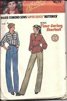 UNCUT Vintage Butterick Sewing Pattern Misses Time Saving Tunic Pants 1970s 6422