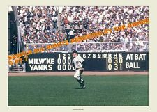 MICKEY MANTLE PHOTO IN YANKEE STADIUM late 1950`s 5x7  Hi Qual Kodak Paper