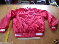 """Vintage 1980's Dance group red windbreaker jacket lined Red 23x28"""" XL"""