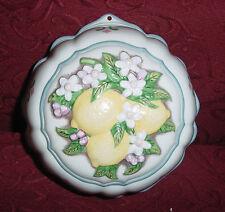 Franklin Mint Le Cordon Bleu 1986 Jello Mold Lemon / Fruit Round Shape Porcelain