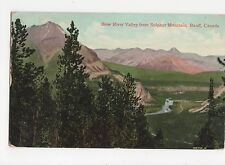 Canada, Bow Valley River from Sulphur Mountain, Banff 1907  Postcard, A583