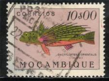 MOZAMBIQUE 10$00 FISH STAMP (1951) Used
