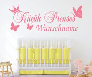 KP153 Wandtattoo Kücük Prenses Name Wunschname Wunschtext Prinzessin Türkisch