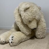 Ditz designs 48H X 36W Soft huggable handmade plush polar bear stuffed animal.