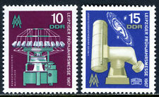 Germany DDR/GDR 897-898, MNH. Circular Knitting Machine, Zeiss Telescope, 1967