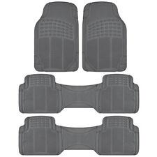 3 Row SUVs Car Floor Mats All Weather Heavy Duty Rubber fits Honda Pilot - Gray
