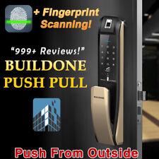 NEW BUILDONE PUSH PULL Digital Door Lock Fingerprint Smart Door H7090PSK U