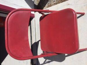 New Steel Folding Chair , RED Paint, Event indoor/outdoor