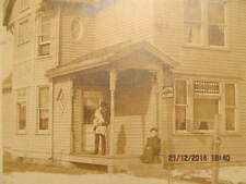 Vtg. Cabinet Photo Man & Baby at Home of Dr. H. S. Dome Tell City IN Early 1900s