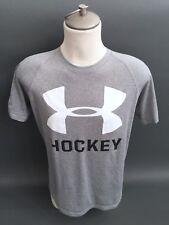 UNDER ARMOUR Heat Gear Loose Short sleeve HOCKEY Gray T- Shirt Men Small S