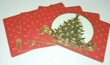 Bright Of America Reversible Washable Place Mats Vintage Winter Holiday Lot 12
