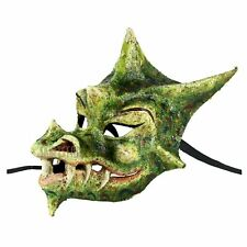 Auth. Venetian Mask Made In Italy Dragon Smaug Costume Home Wall Decor Green