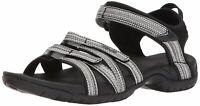 Teva Womens W Tirra Fabric Low Top  Walking, Black/White Multi, Size 9.5 J