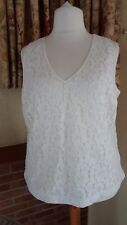 CREAM ALL OVER LACE SLEEVELESS TOP FROM  NEXT SIZE 20 - NEW- CHRISTMAS PARTY