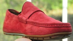 Gucci Men's  Salmon  Red  Suede  Dress Loafer Shoes  brand Sze 10  G