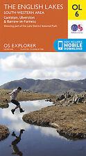 OL6 Lake District South Western Lakes Ordnance Survey Explorer Map OL 6