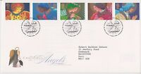 GB ROYAL MAIL FDC FIRST DAY COVER 1998 CHRISTMAS ANGELS STAMP SET BUREAU PMK