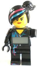 LEGO Movie Wyldstyle Kids Digital Alarm Clock Minifigure Light Up black purple