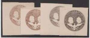 D0821 : (2) US #U350-351 Excellent État, Teintes; Cv