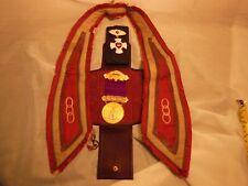 Vintage Odd Fellows lot Past Chief Patriarch Pin VT. + Crown Pin N.H. + Collar