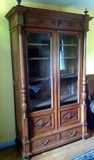 armoire vitrine bibliothèque ancienne bois meuble  lingère tiroirs