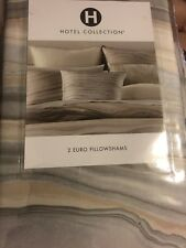 NEW Hotel Collection Agate SET of 2 Euro Pillow Sham