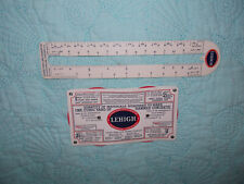Lot 2-Lehigh Portland Cement Co. Measure Advertising Scale Lumber Concrete Ruler