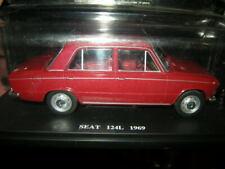 1:24 fabbri seat 124l color marrón-rojizo 1969 en VP