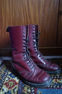 Dr Martens Cherry Red 14 Loch 39 Made In England