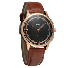 Noblag Signature Premier Luxury Men's Watches Brown Leather Strap