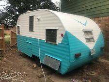 New ListingVintage camper 1962 Mobile Scout. Blue and white.