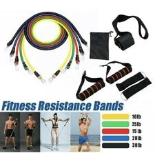 11PCS Yoga Pilates Resistance Band Set Abs Exercise Fitness Tube Workout
