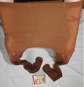 Evona classic elastic crepe nylon shiny pantyhose 6XL comfortable gusset 20DEN