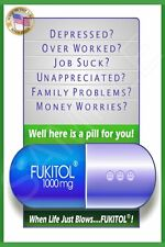 *FUKITOL!* METAL SIGN 8X12 MADE IN USA! MAN CAVE FUNNY BAR DECOR OFFICE DRINKING