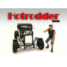 """Hotrodders"" Derek Figure For 1:24 Scale Models By American Diorama 24027"