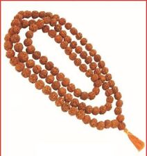 ORIGINAL RUDRAKSHA RUDRAKSH 10 MM JAPA MALA ROSARY(108 +1)YOGA PRAYER MEDITATION