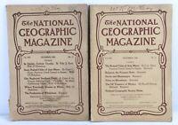 National Geographic Magazine Lot of 2 November 1908 December 1908 Vintage