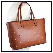 NWT Mondani Brown Cognac LARGE Designer Faux Leather FALL Handbag TOTE BAG Purse