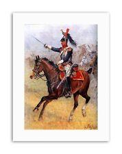 Battle Scene Chelminski Duchy Cavalry Napoleonic était Military Canvas Art Prints