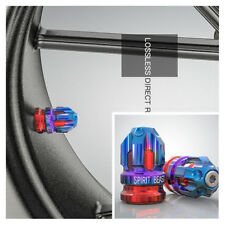 Blue & Red CNC Aluminum Motorcycle Tire Valve Cap Cover Wheel Decoration