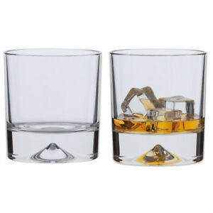 Dartington Whisky Glasses Dimple Double Old Fashioned Collection 2 Pack Boxed