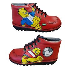 LEGO Kickers Kids Boots - Kick Hi Logo - Red - Size 2.5 (UK)