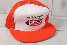 Vintage 80's Dons Auto Parts Store Car Baseball Trucker Cap Hat Mesh Foam Farmer