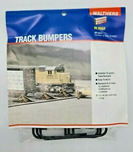 "HO SCALE WALTHERS #933-3511 ""TRACK BUMPERS"" NEW, UNOPENED KIT BUILDS 12 BUMPERS"