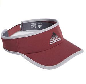 NEW! adidas Men's AEROREADY Superlite Performance Visor-Legacy Red/Glory Grey