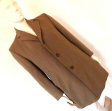 "Vintage 1960s 60s  "" R J Hambling"" Tweed Mens Overcoat Mod 3 Button Size L Large"
