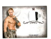 WWE Tyler Breeze 2016 Topps Undisputed Event Worn Shirt Relic Card SN 36 of 175